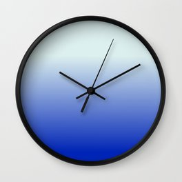 BRIGHT BLUE pastel color ombre pattern  Wall Clock