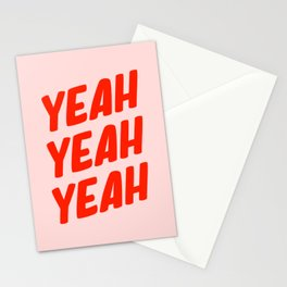 Yeah Yeah Yeah Stationery Cards