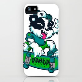 Skater panda iPhone Case