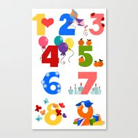 numbers Canvas Prints featuring numbers by Alapapaju