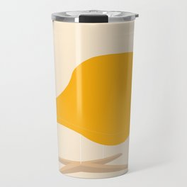 Yellow La Chaise Chair by Charles & Ray Eames Travel Mug