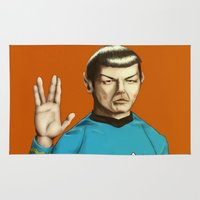 spock Area & Throw Rugs featuring Mr. Spock by Maripili