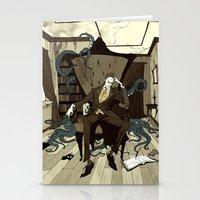 lovecraft Stationery Cards featuring H.P. Lovecraft by Abigail Larson