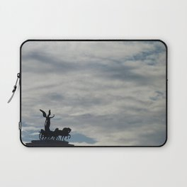 Roman angel and chariot at sunset Laptop Sleeve