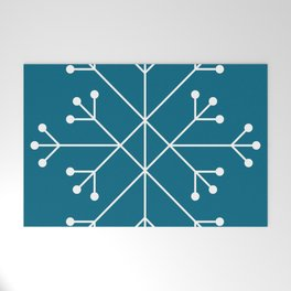 Mod Snowflake Teal Welcome Mat