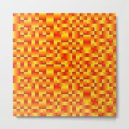 Orange Geo Pattern Metal Print