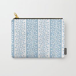 Mid Century Modern Berry Vine Stripes Pale Blue Carry-All Pouch