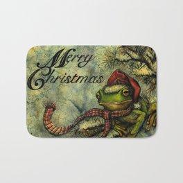 Felipe the Jolly Holiday Frog Bath Mat