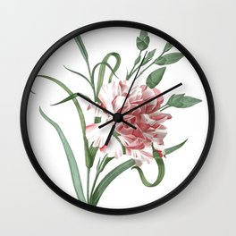 HIGHEST QUALITY botanical poster of Carnation Wall Clock