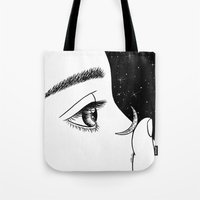 contact Tote Bags featuring Contact by Henn Kim