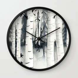 Aspen Forest Wall Clock