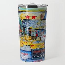Times Square New York Yellow Taxi View Travel Mug