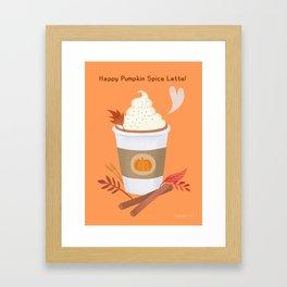 Pumpkin Spice Latte (orange) Framed Art Print