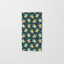 Cute Flower Child Hippy Turtles Hand & Bath Towel