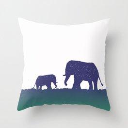 Elephant Silhouettes (Alternate)  Throw Pillow
