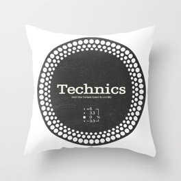Technics - Disc Jockey Throw Pillow