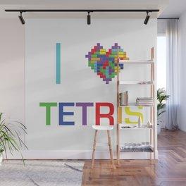 I heart Tetris Wall Mural