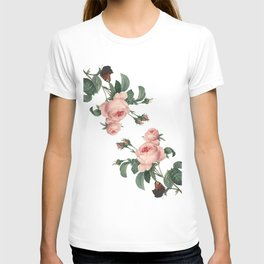 Butterflies in the Rose Garden on White T-shirt
