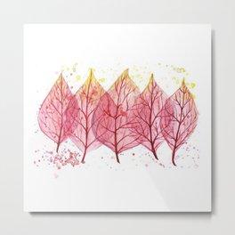 Fire leaves Metal Print