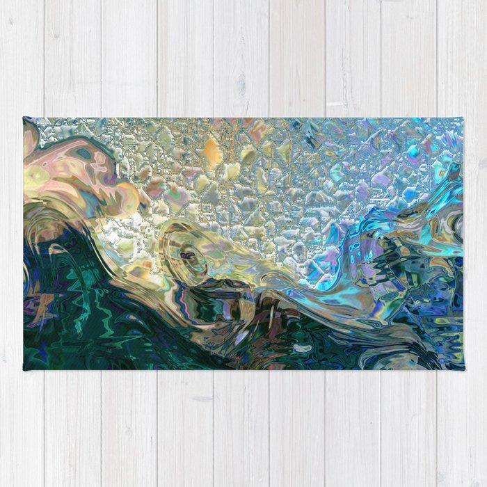 Sea Nymph Abstract Rug