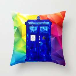 Tardis Abstract Triangle Throw Pillow