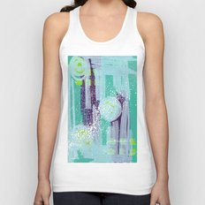 Teal Background Unisex Tank Top