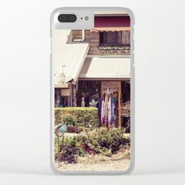 Whistling Duck Village Clear iPhone Case