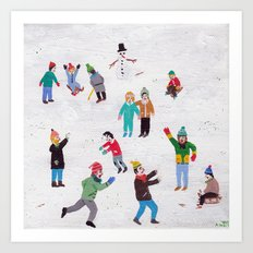 Snow Flurry Art Print