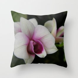 Orchids #2 Throw Pillow