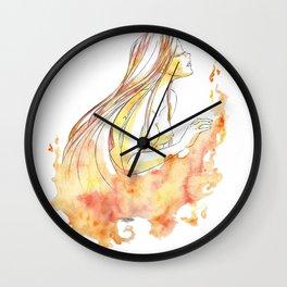 Goddess of Fire Wall Clock