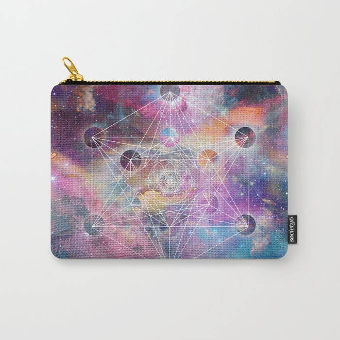 Watercolor and nebula sacred geometry  Carry-All Pouch