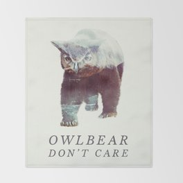 Owlbear (Typography) Throw Blanket