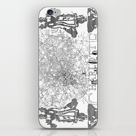 Charlotte Map iPhone & iPod Skin