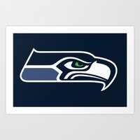 seahawks Art Prints featuring Seahawks by loveme