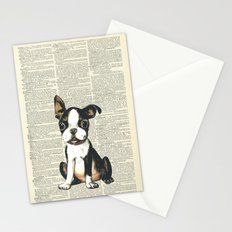 Boston Terrier Vintage Puppy Stationery Cards
