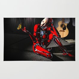 The Butterfly and The Robot Rug
