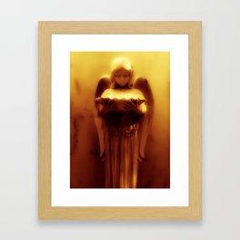 Golden Angel Framed Art Print