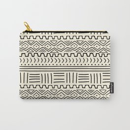 Mud Cloth on Cream Carry-All Pouch