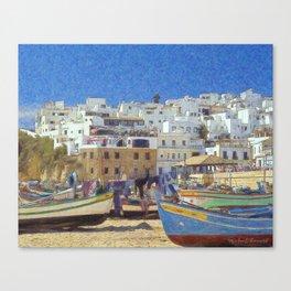 Albufeira fishing boats, Portugal Canvas Print