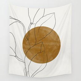 Line Art Home Plant Wall Tapestry