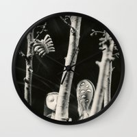 tim burton Wall Clocks featuring The girls - tim burton by PaperTigress