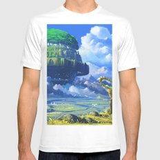 Castle in the sky White Mens Fitted Tee MEDIUM