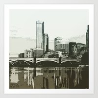 melbourne Art Prints featuring Melbourne by dkazbar