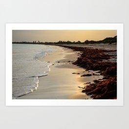 Sandy Sunset Art Print