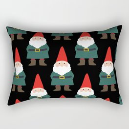 Gnome Repeat in Black Rectangular Pillow