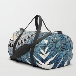 blue feather dreamcatcher Duffle Bag