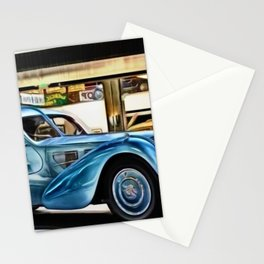 Vintage 1938 French Model Type 57 Atlantic Sports Coupe Painting Stationery Cards