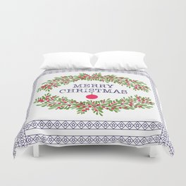 Christmas . Congratulations gifts. Duvet Cover