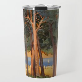Viareggio woods and sea Travel Mug