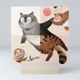 Social cats #dollypartonchallenge Mini Art Print